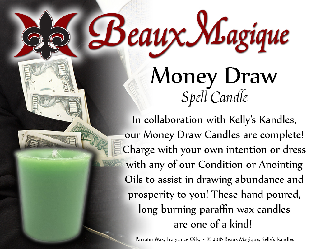 Money Draw ~ Spell Candle
